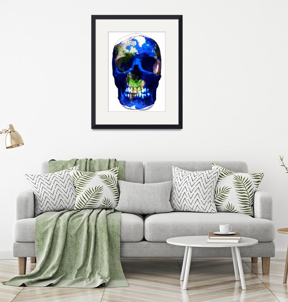 """""Luxemyth"" Earth skull""  (2011) by O"