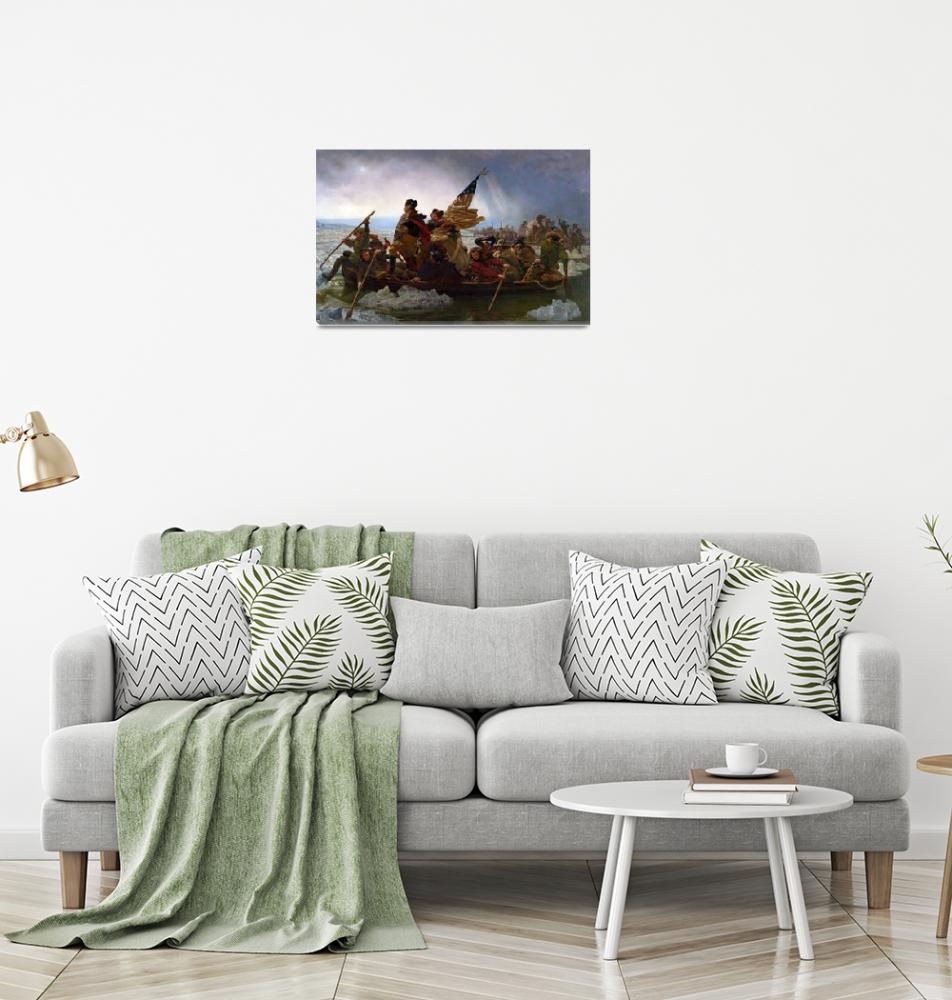 """""""Washington Crossing the Delaware River, 25th Decem"""" by fineartmasters"""