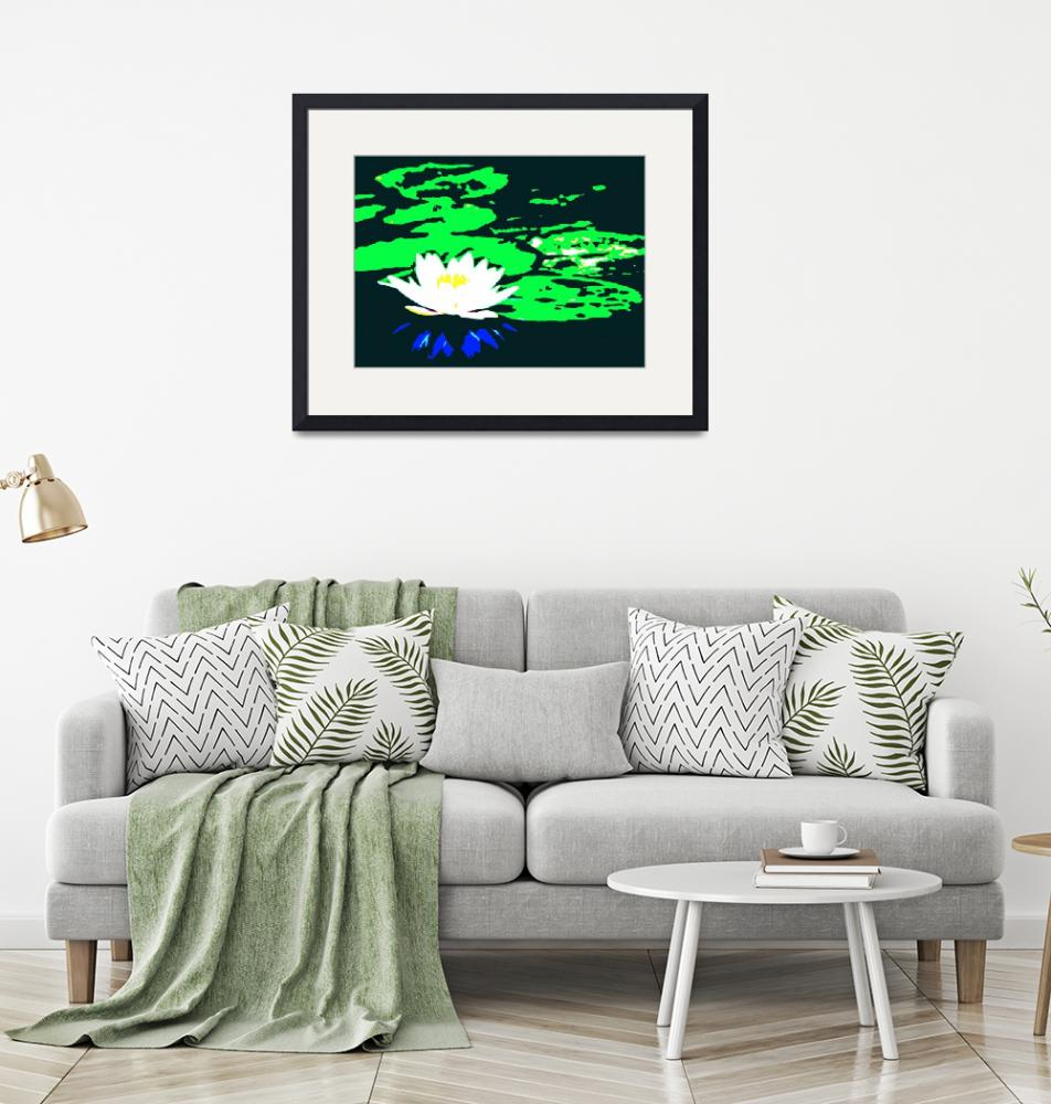 """""""Lotus Flower with Lily Pads II""""  (2014) by TheNorthernTerritory"""