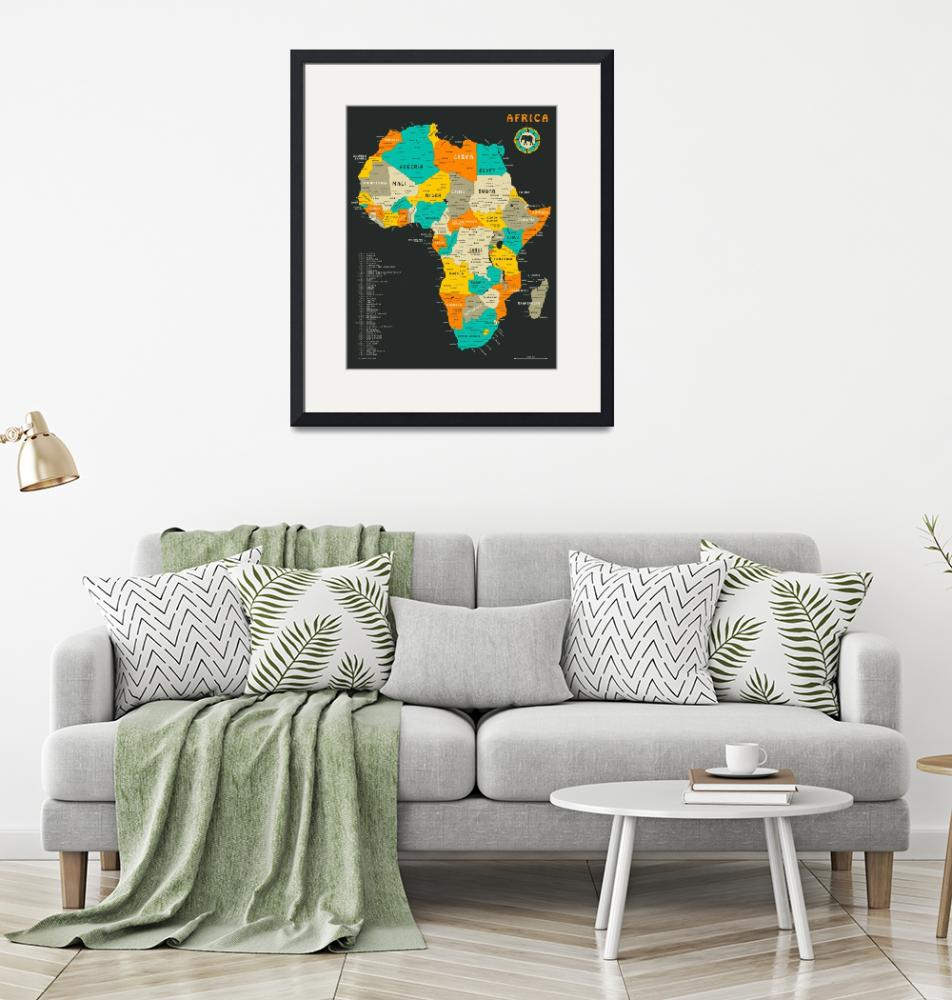 """Africa Map""  by JazzberryBlue"
