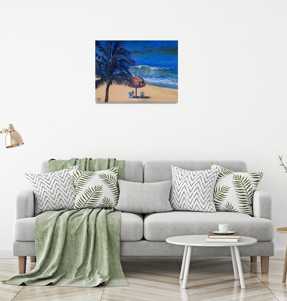 """Keating Fine Art Print: Mexico Beach Palapa, Huatu""  (2007) by KeatingArt"