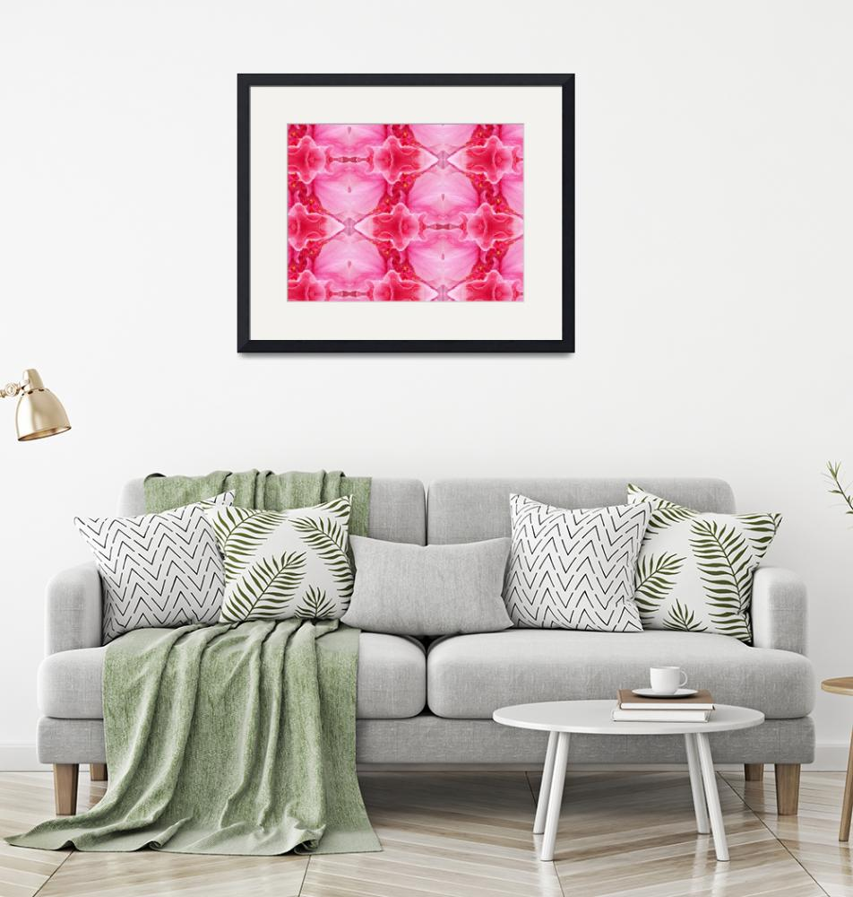 """""""Double Pink Hibicus Abstract""""  (2008) by biglnet"""