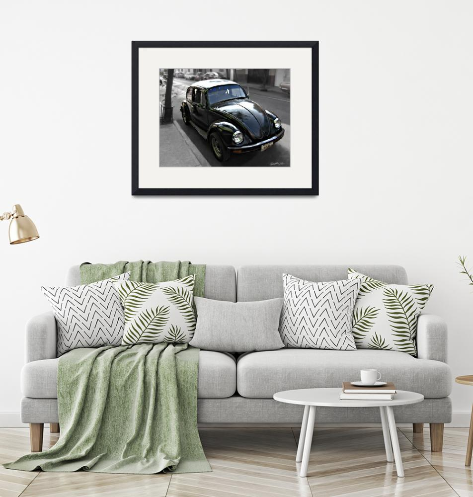 """Black VW Bug 1""  (2009) by ChristopherInMexico"