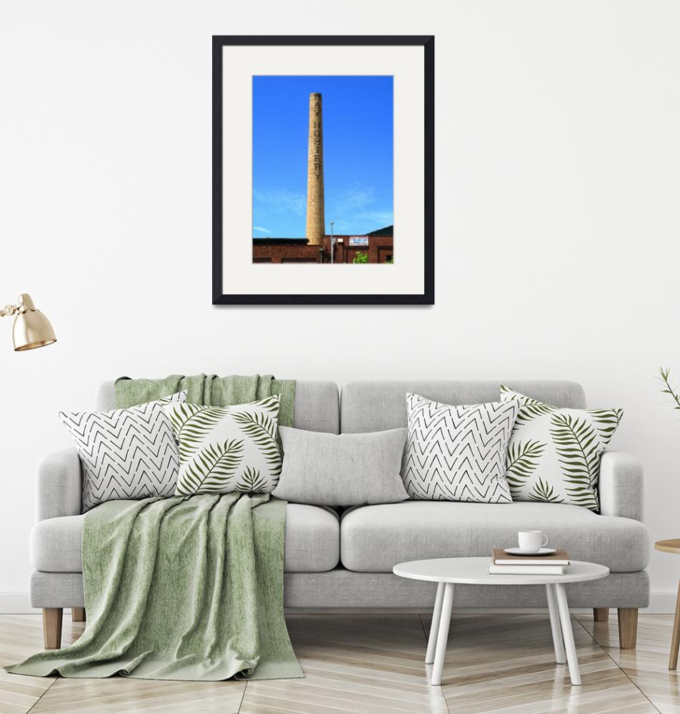 """Burlington, NC - Factory Smokestack 2009""  (2009) by Ffooter"