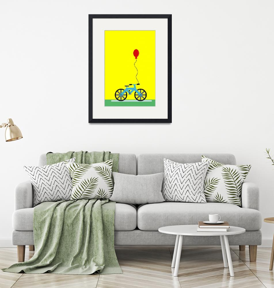 """""""The Blue Bicycle""""  (2018) by Hafermalz"""
