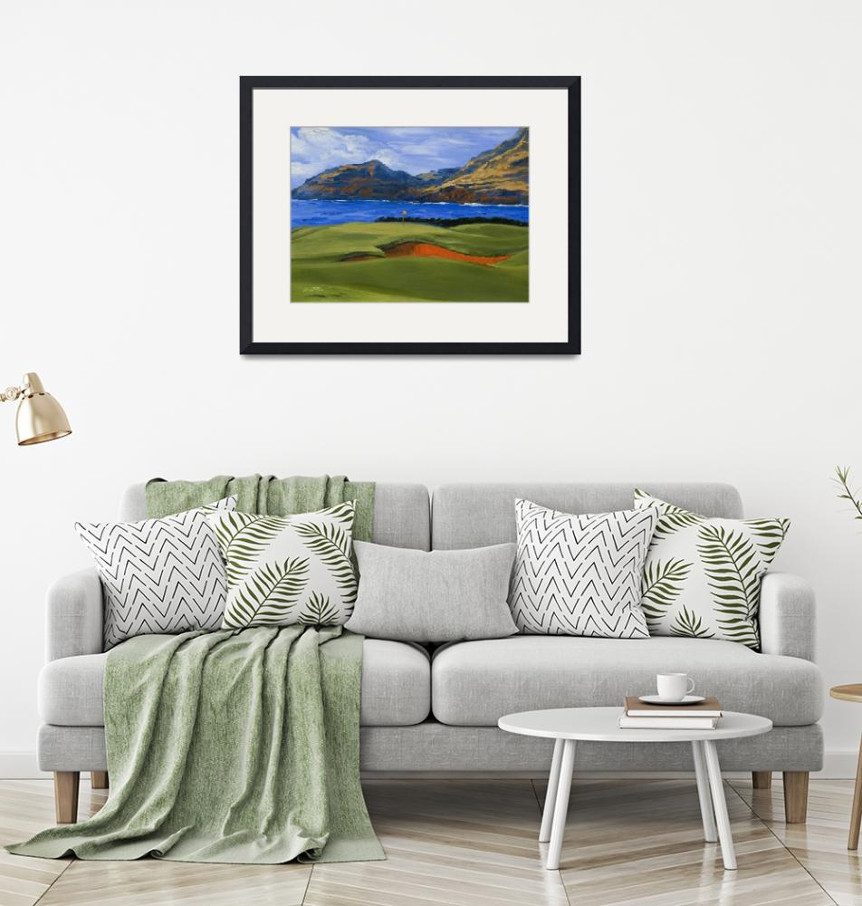 """Warren Keating Print GOLF, KAUAI LAGOONS HAWAII""  (2006) by KeatingArt"