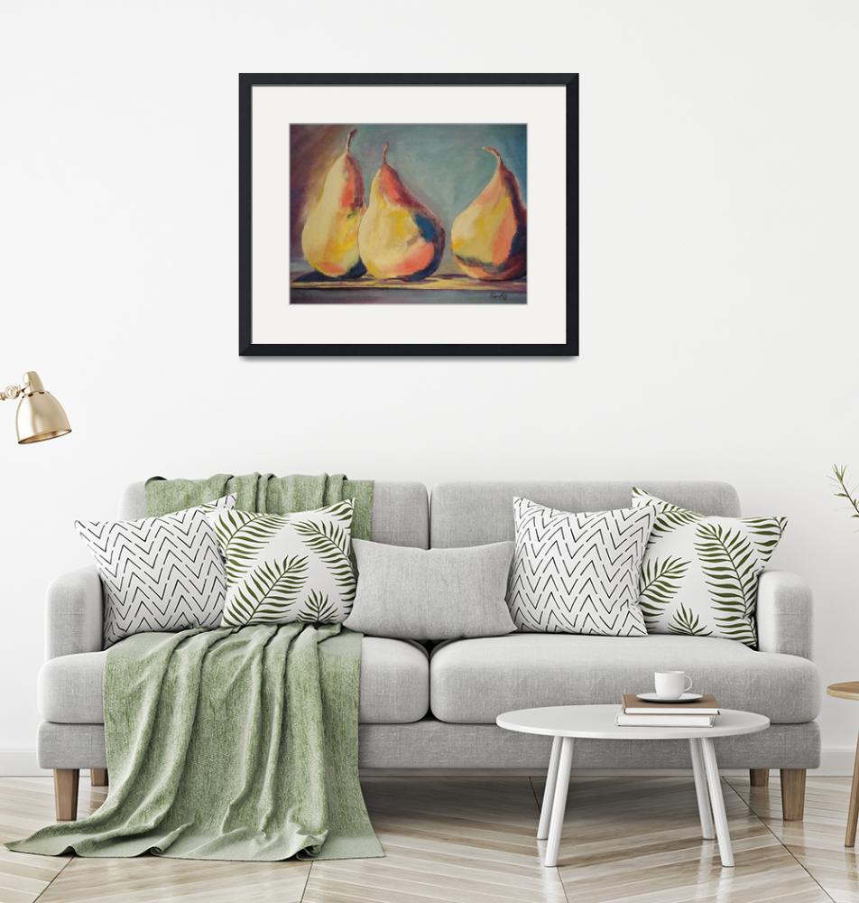 """""""Three Pears""""  by SCAATYDesigns"""