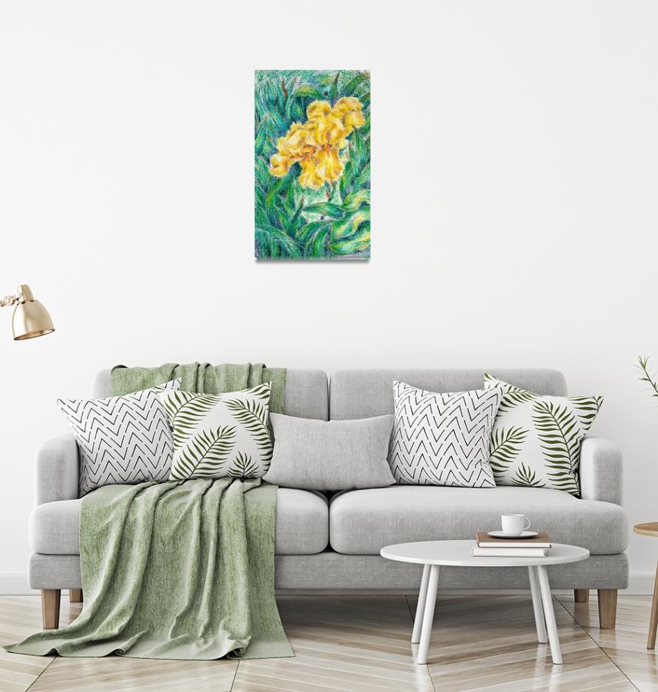 """""""Yellow Irises""""  (2020) by watercolourart"""