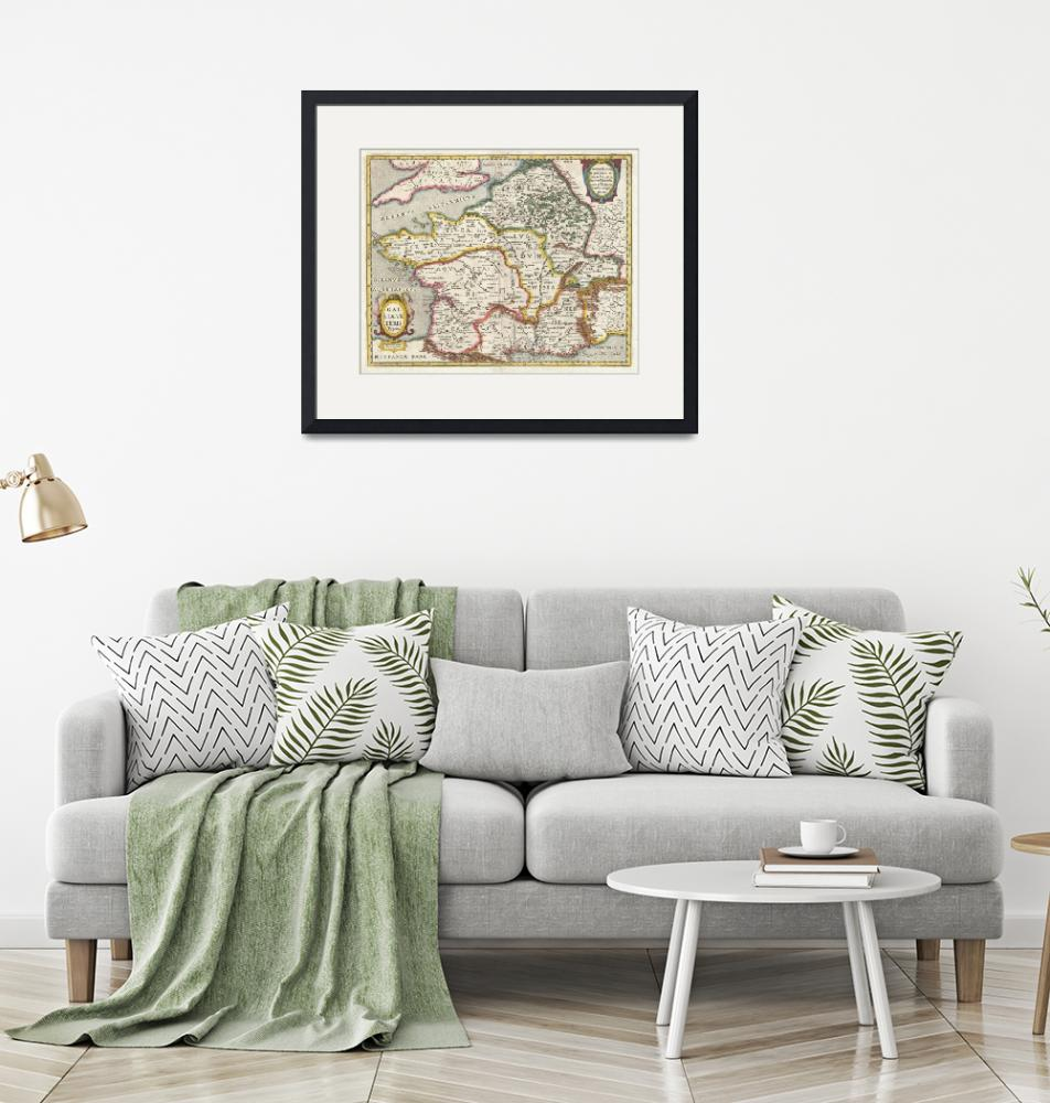 """""""Map of France or Gaul in Antiquity by Jan Jansson""""  by FineArtClassics"""