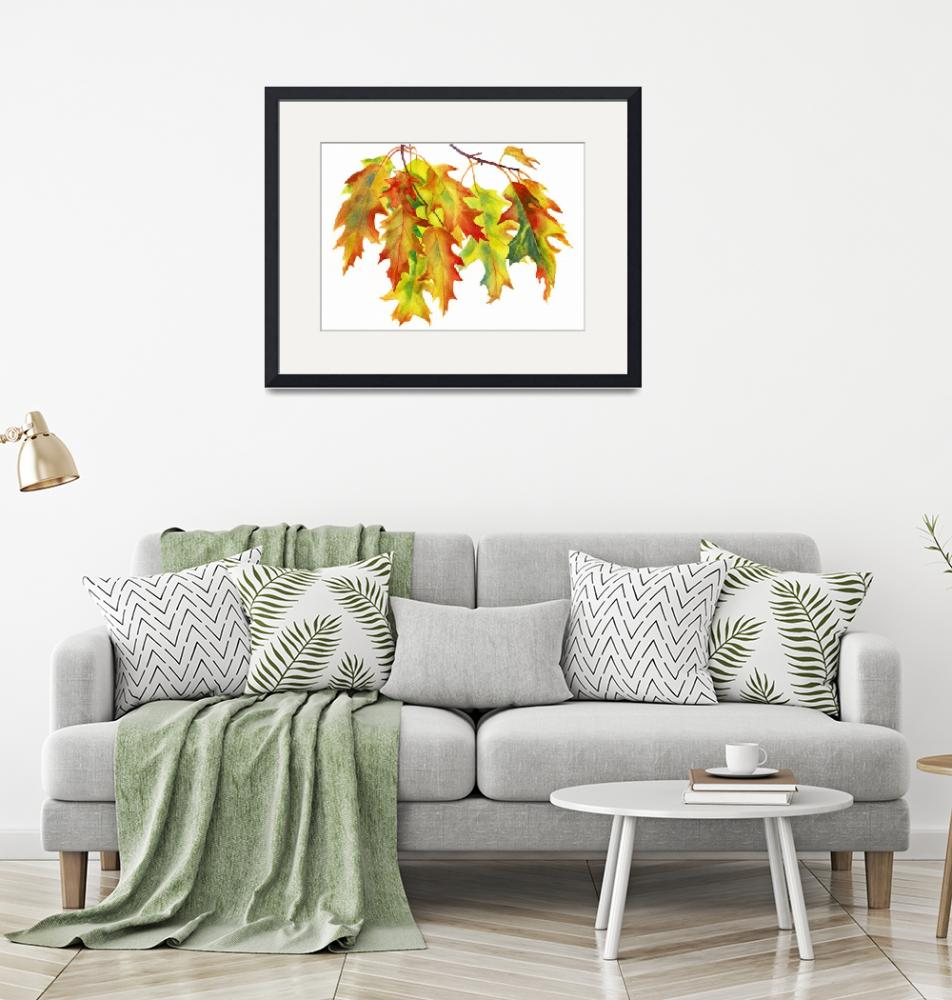 """""""Rust Colored Oak Leaves""""  (2014) by Pacific-NW-Watercolors"""