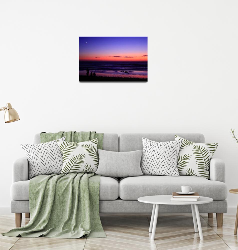 """Sunset Sea""  (2009) by JessicaShellPhotography"