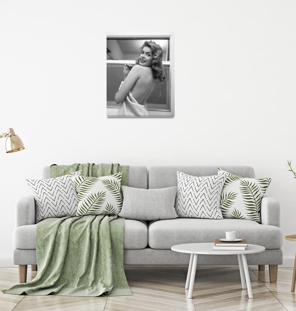 """""""Jayne Mansfield with towel""""  by BachelorPad"""
