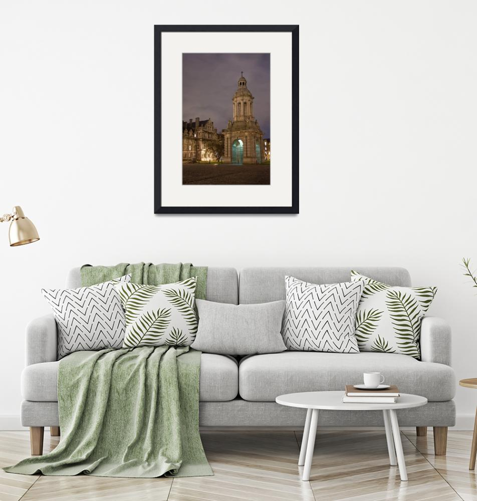 """""""The Campanile at night inside the grounds of Trini""""  by samuelmonson"""
