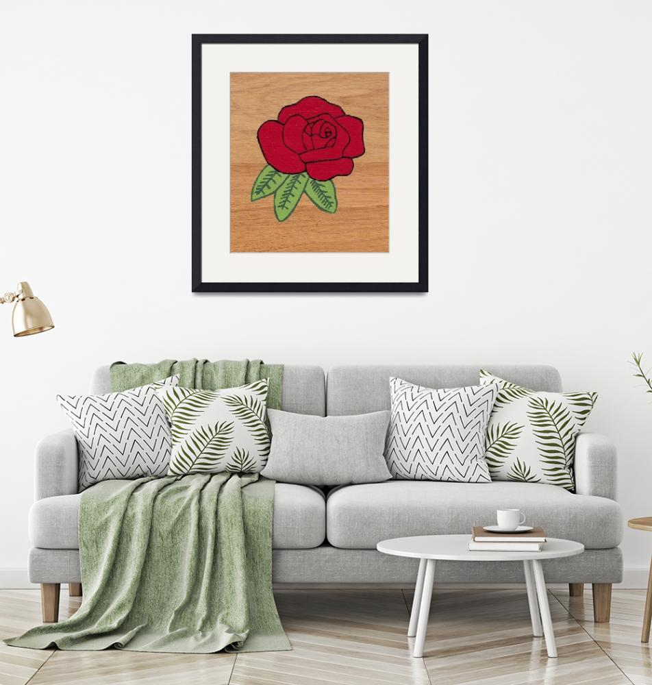 """""""Rose On Wood""""  (2011) by DMagers"""