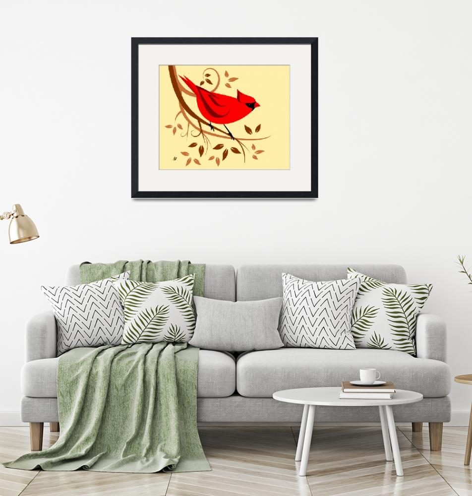 """""""Red Northern Cardinal""""  by waterart"""