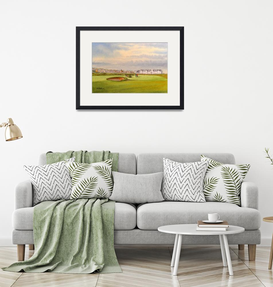 """""""Carnoustie Golf Course Scotland With Clubhouse""""  (2019) by billholkham"""