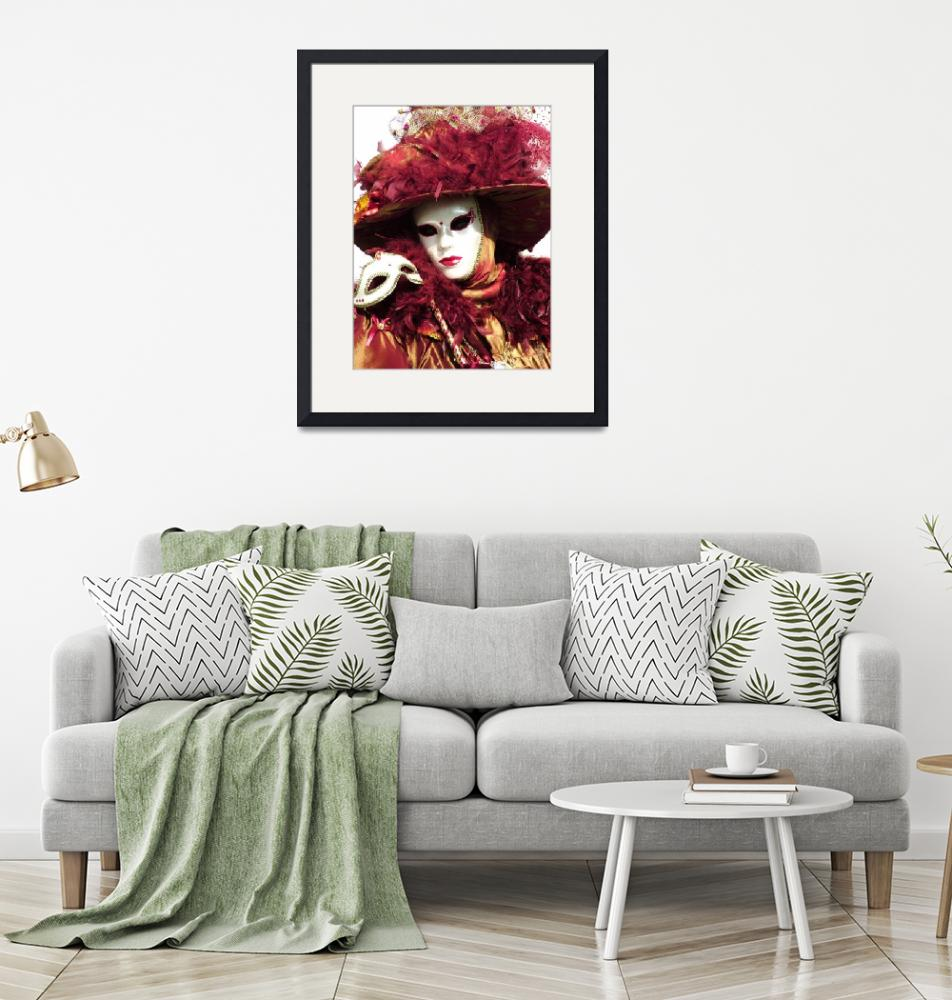 """""""Burgandy Feathered Lady"""" (2006) by DonnaCorless"""