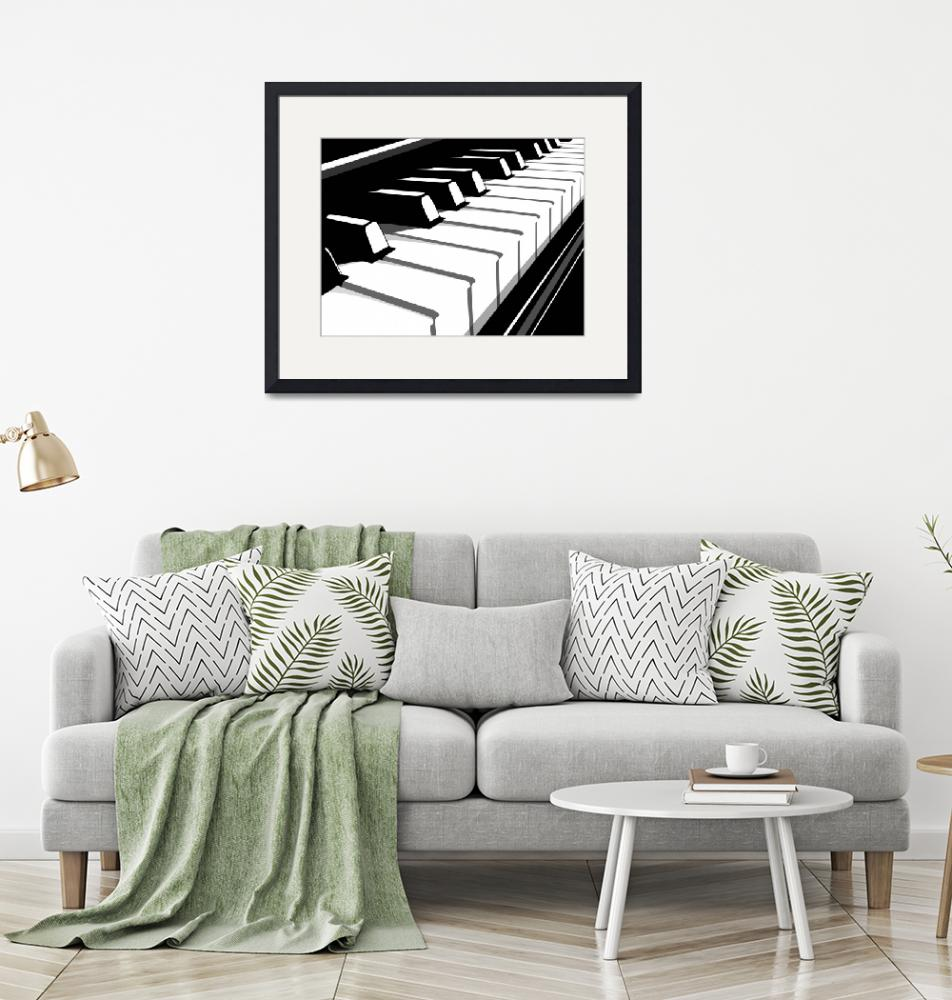 """Piano Keyboard no2""  (2010) by ModernArtPrints"