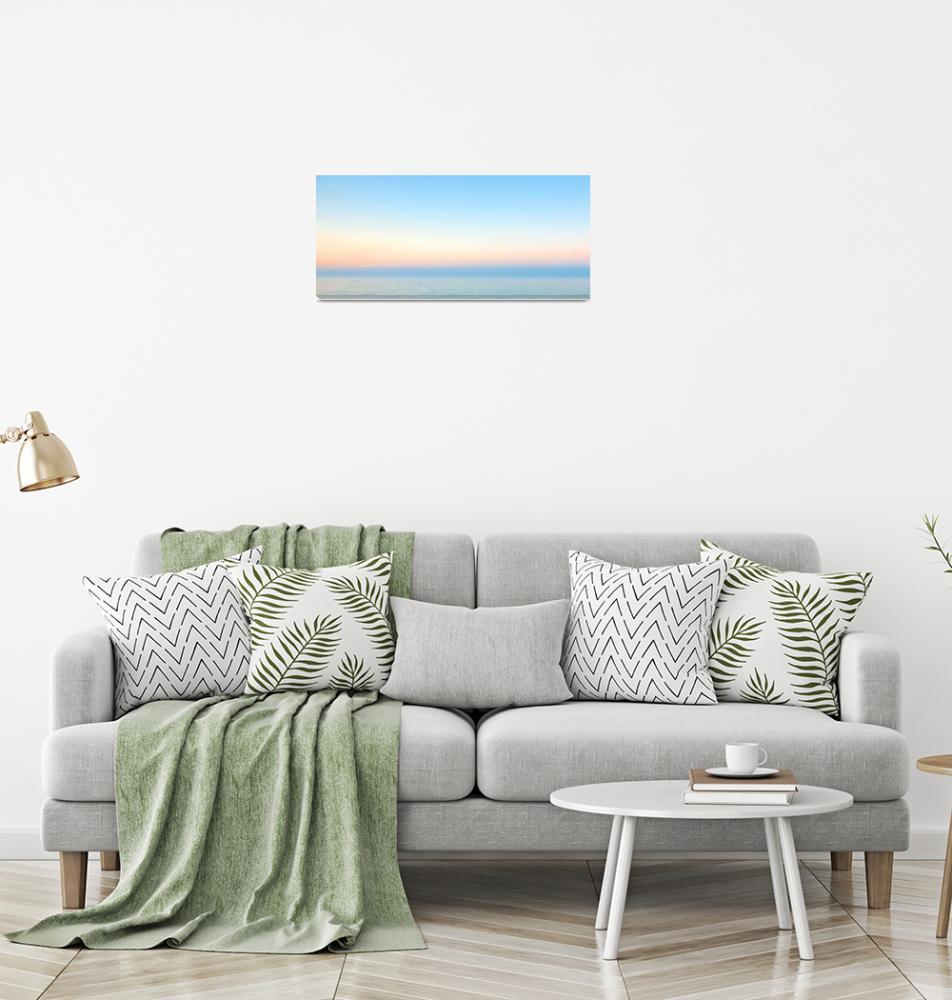 """Pastel Sunrise Seascape C2""  (2015) by Ricardos"
