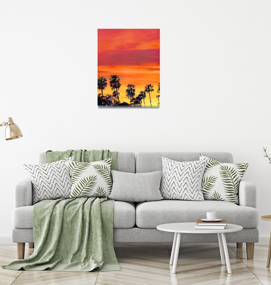 """""""Big Red Sunset in San Diego""""  (2009) by RDRiccoboni"""