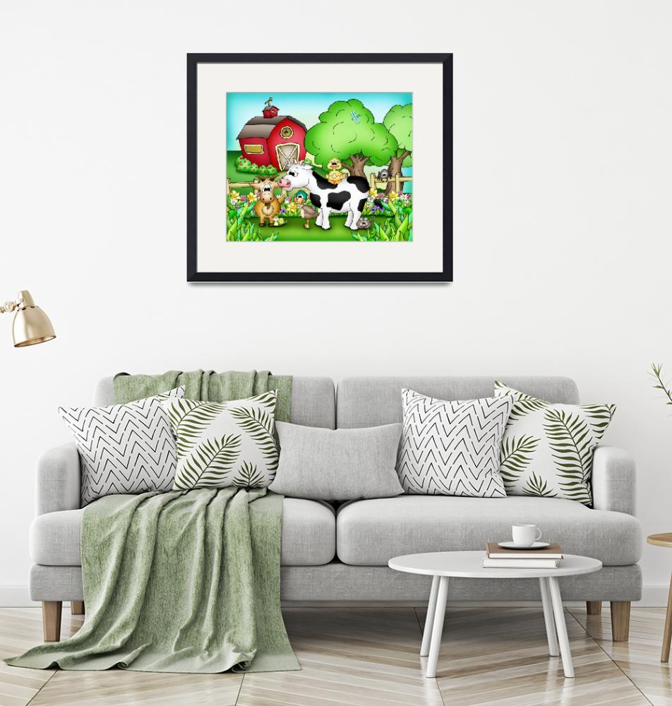 """""""Farm Animals with Cow""""  (2010) by just4mebooks"""