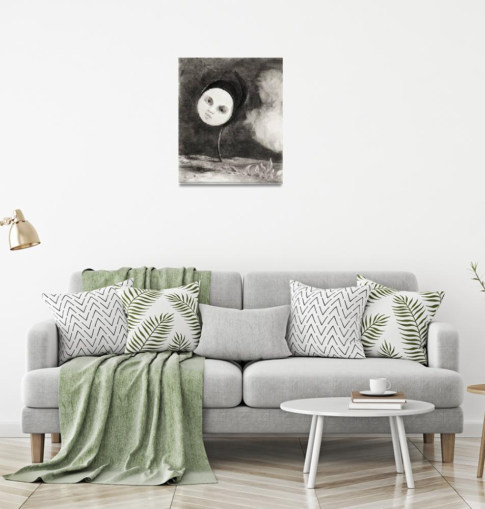 """Strange Flower by Odilon Redon""  by FineArtClassics"