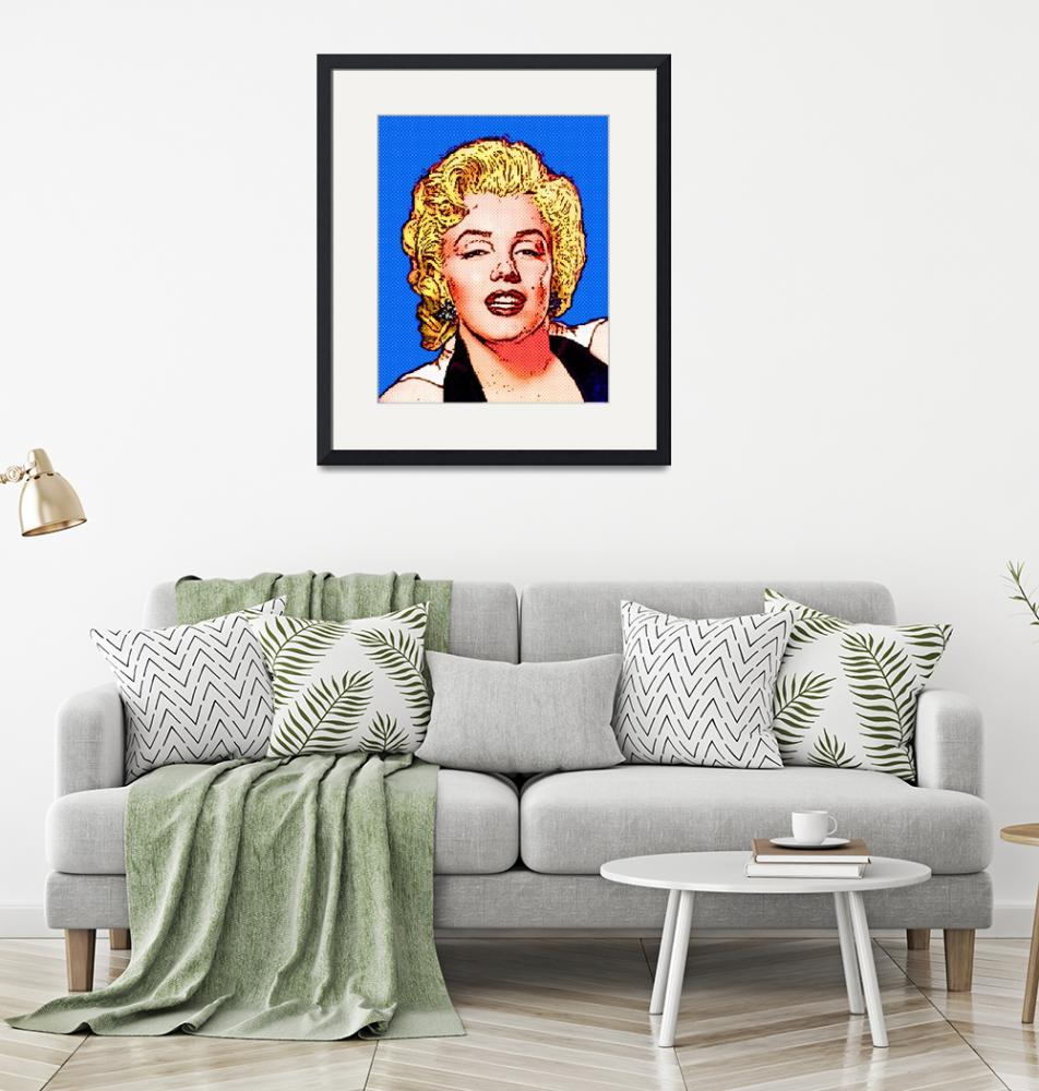 """Marilyn Monroe - Color Dots""  (2011) by Automotography"