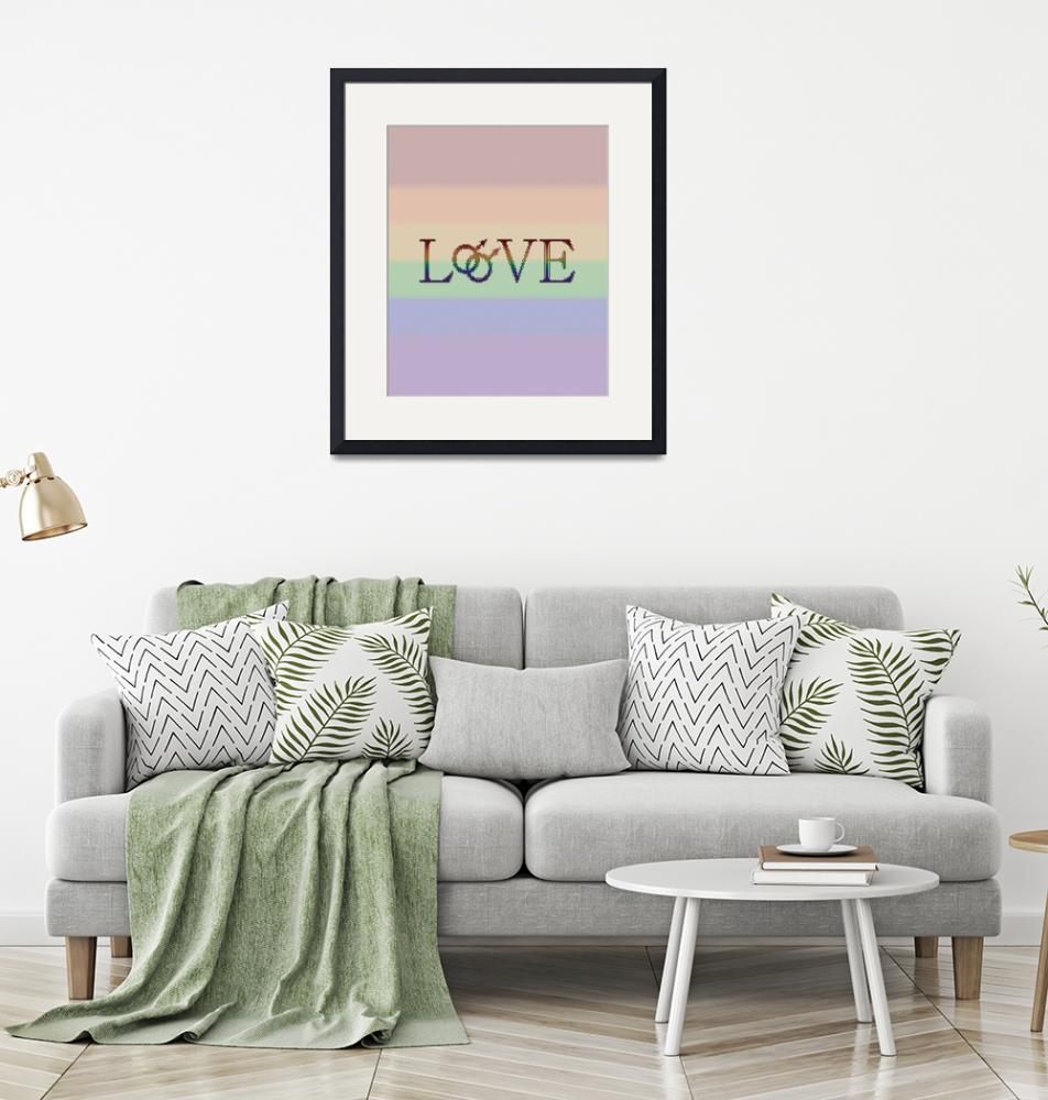 """Rainbow Love- With Double Male Gender Symbols - Ga""  (2013) by LiveLoudGraphics"