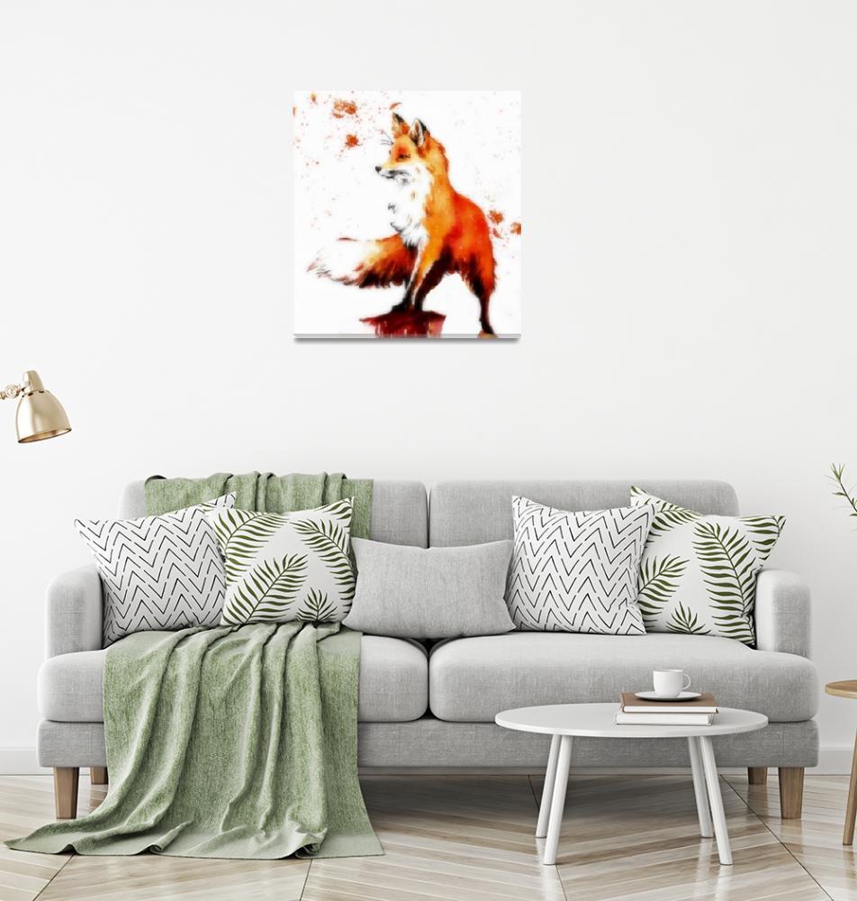 """Beautiful Christmas Fox""  (2019) by regalmind"