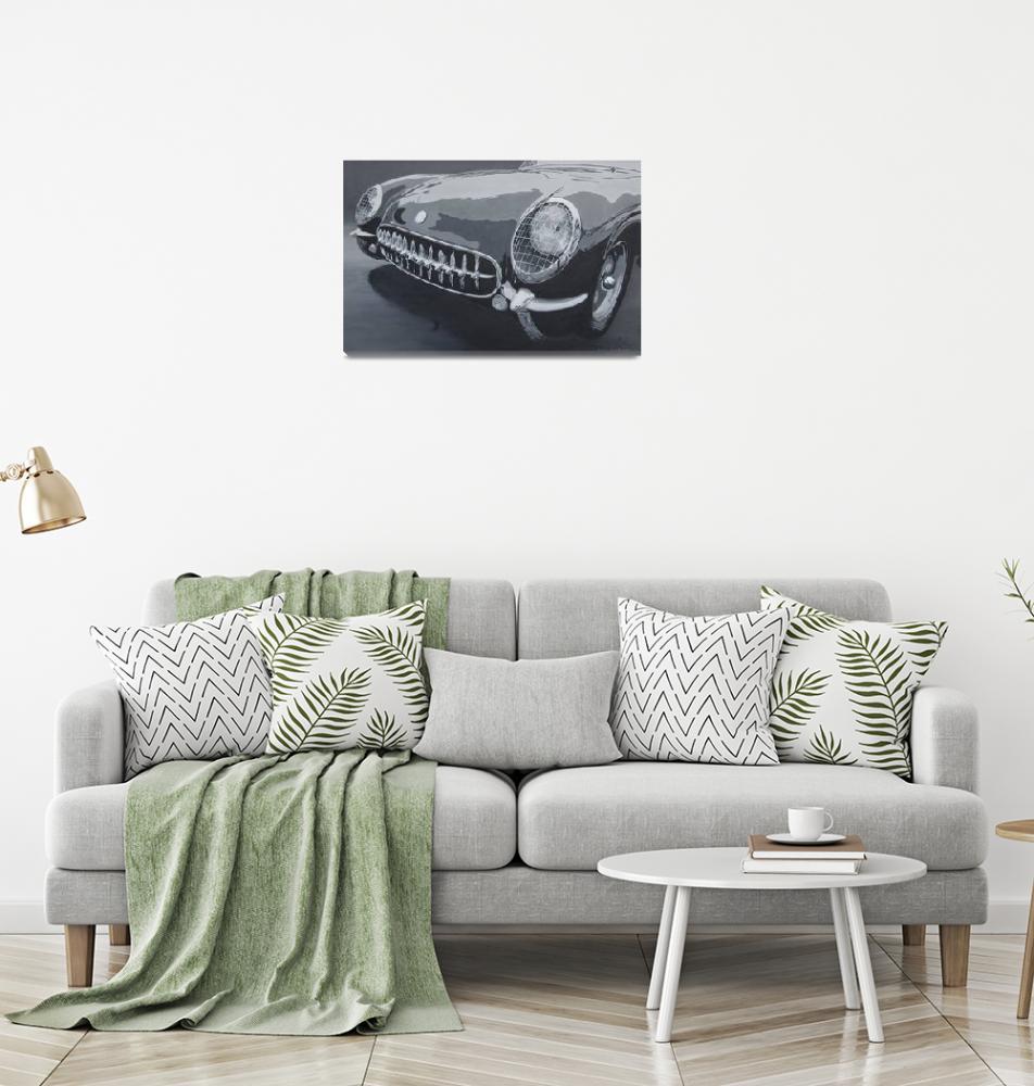 """""""Chevrolet Corvette 1954""""  (2008) by BorsosAnnaRuzsan"""