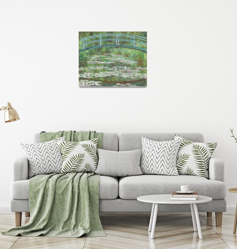 """The Japanese Footbridge by Monet""  by FineArtClassics"
