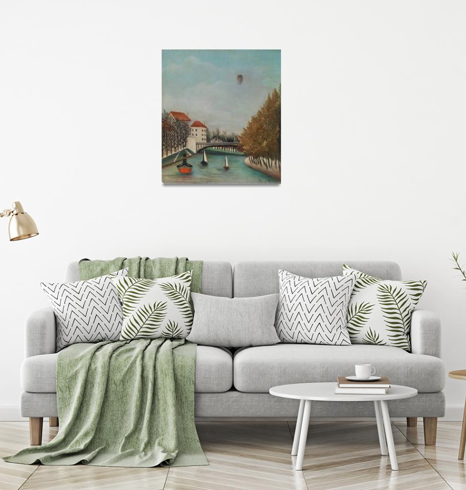 """Study for View of the Pont de Sèvres by Rousseau""  by FineArtClassics"
