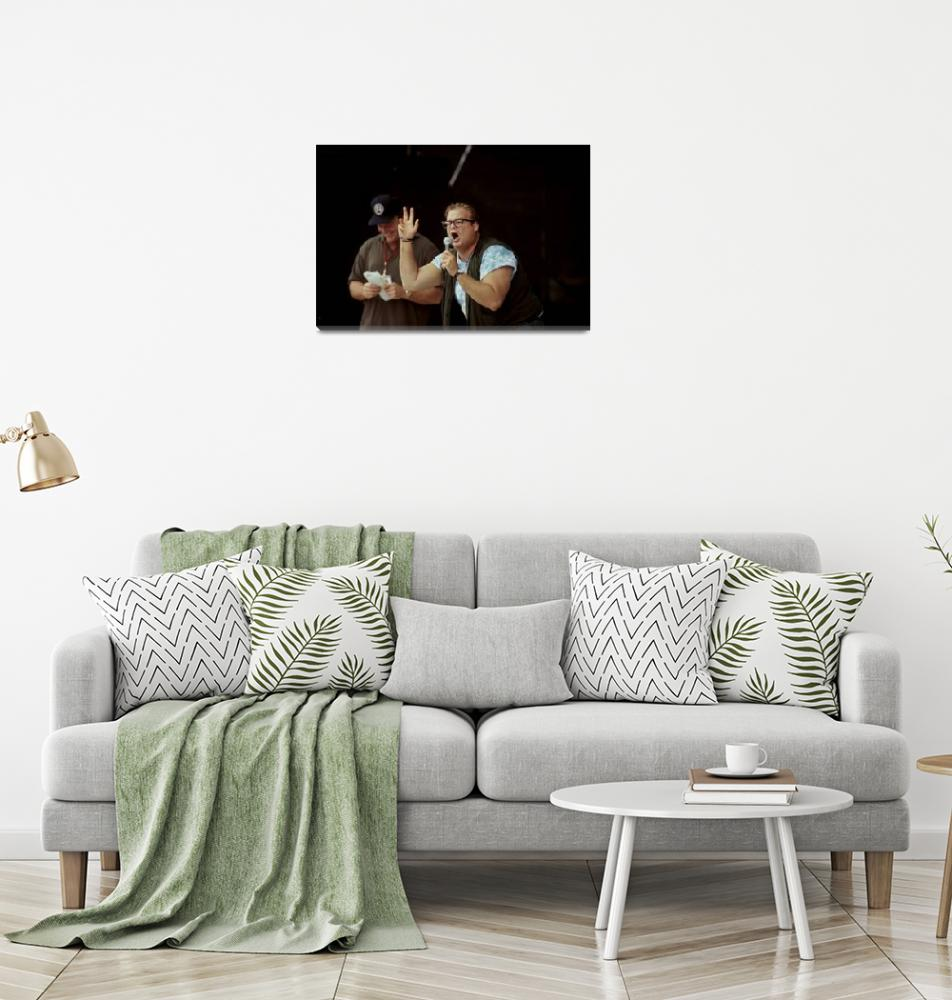 """""""Comedians Tom Arnold and Chris Farley""""  by FrontRowPhotographs"""