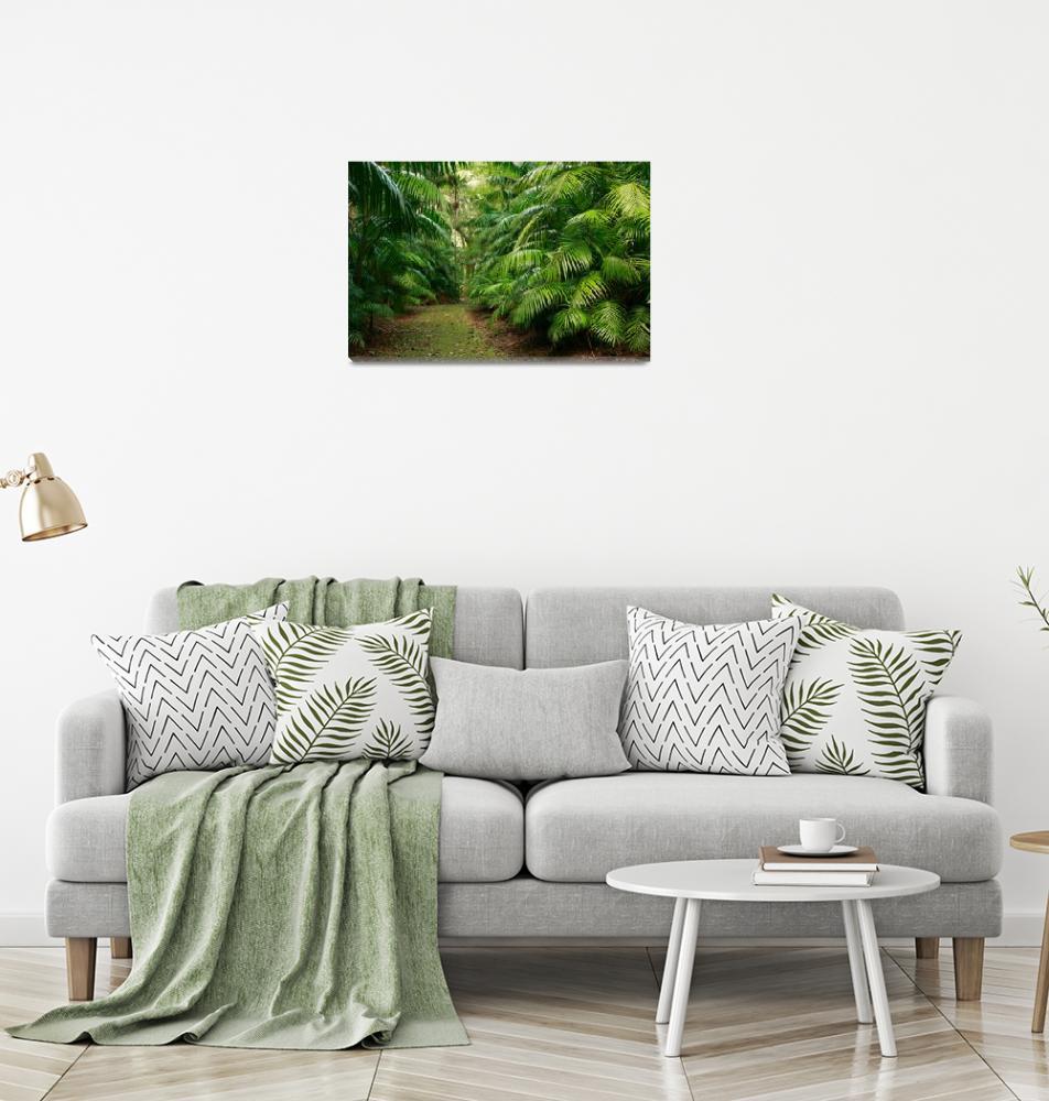 """Subtropical vegetation""  (2011) by gavila"