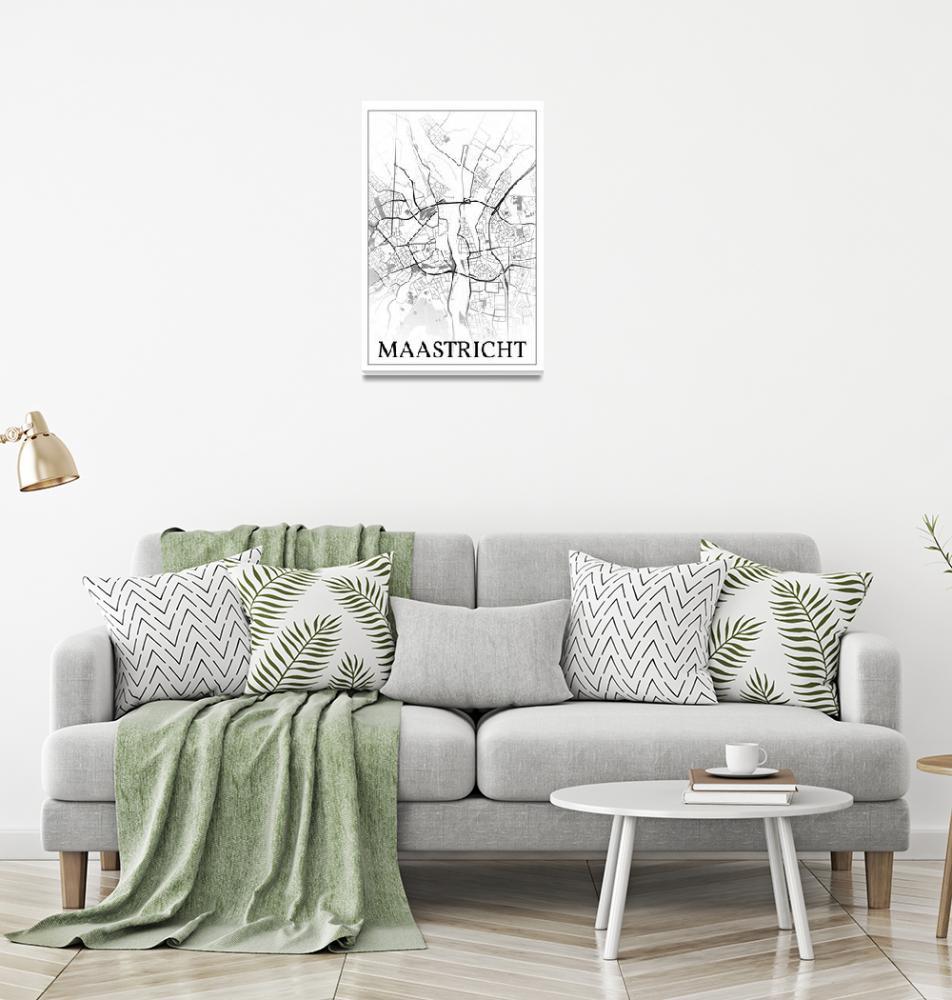 """Maastricht, Netherlands, city map print.""  by dandistudio"