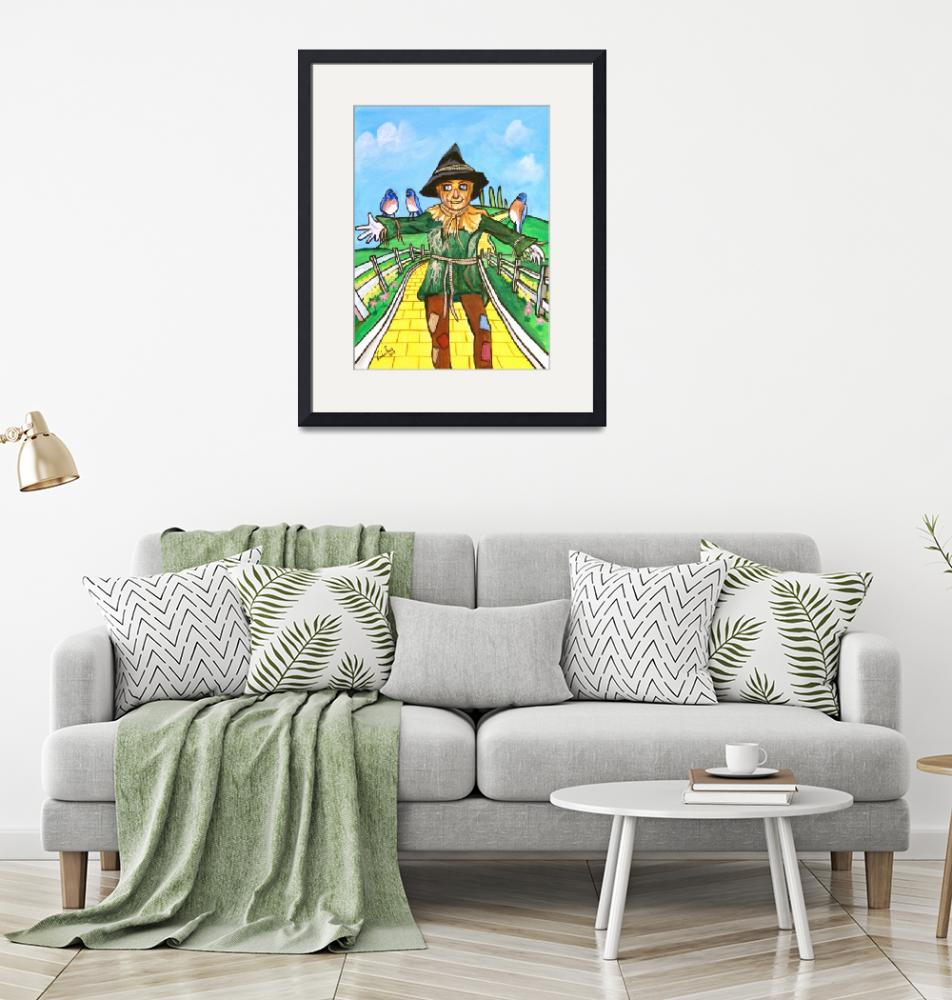 """""""THE SCARECROW WIZARD OF OZ PAINTING Gordon Bruce""""  (2008) by GORDONBRUCEART"""