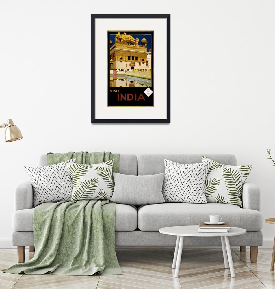 """""""Visit India 2, Vintage Travel Poster""""  by FineArtClassics"""