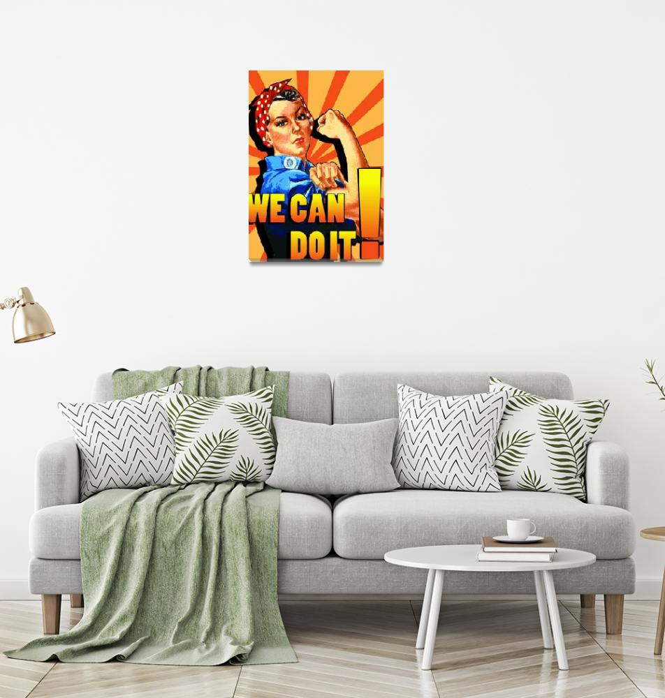 """Rosie the Riveter poster""  (2009) by koyasuddin"