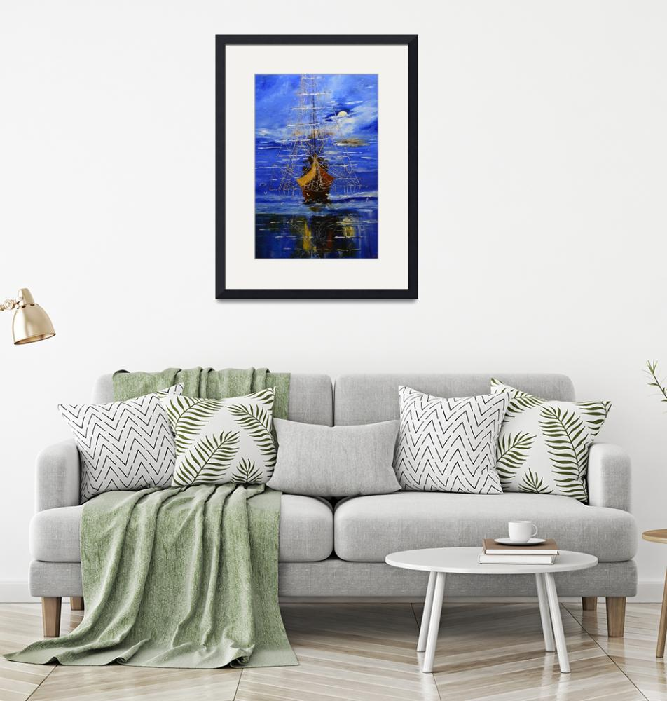 """""""Galleon at Anchor""""  by terrys-la-artworks"""