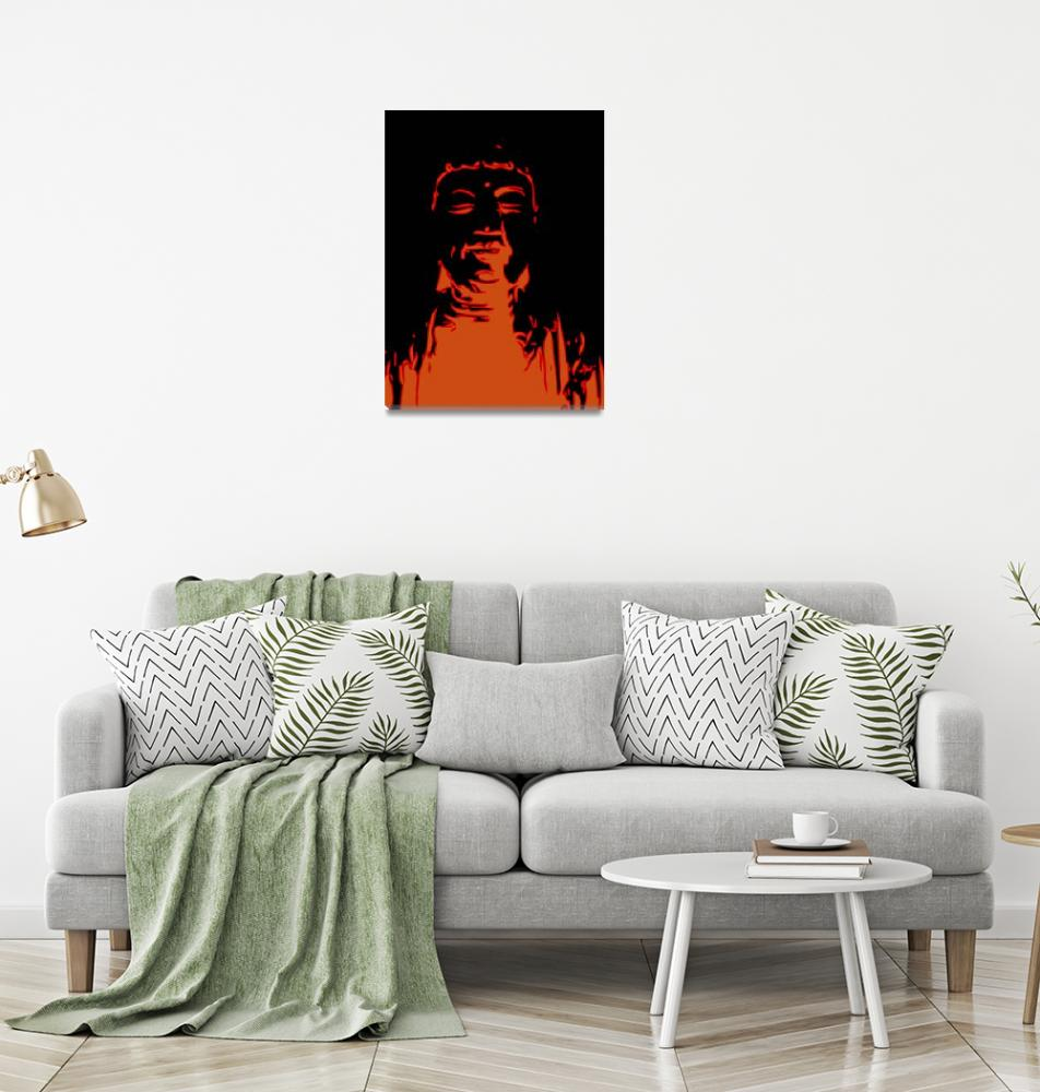 """Fire Buddha rising""  (2012) by TUCArt"