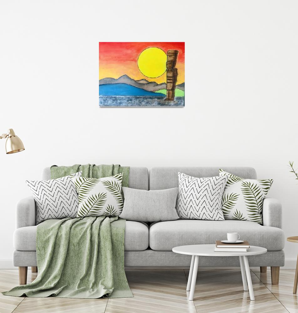 """AZTEC SUN""  (2019) by SoberArt"