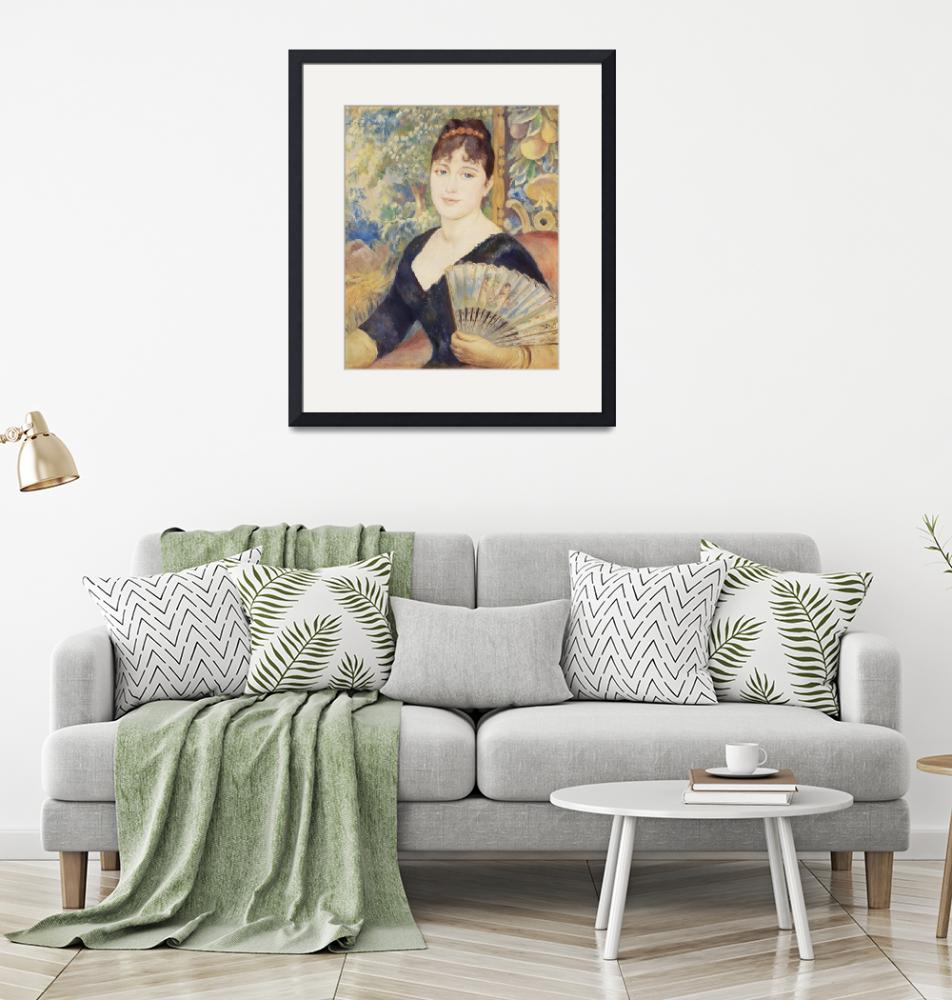 """Woman with Fan by Renoir""  by FineArtClassics"