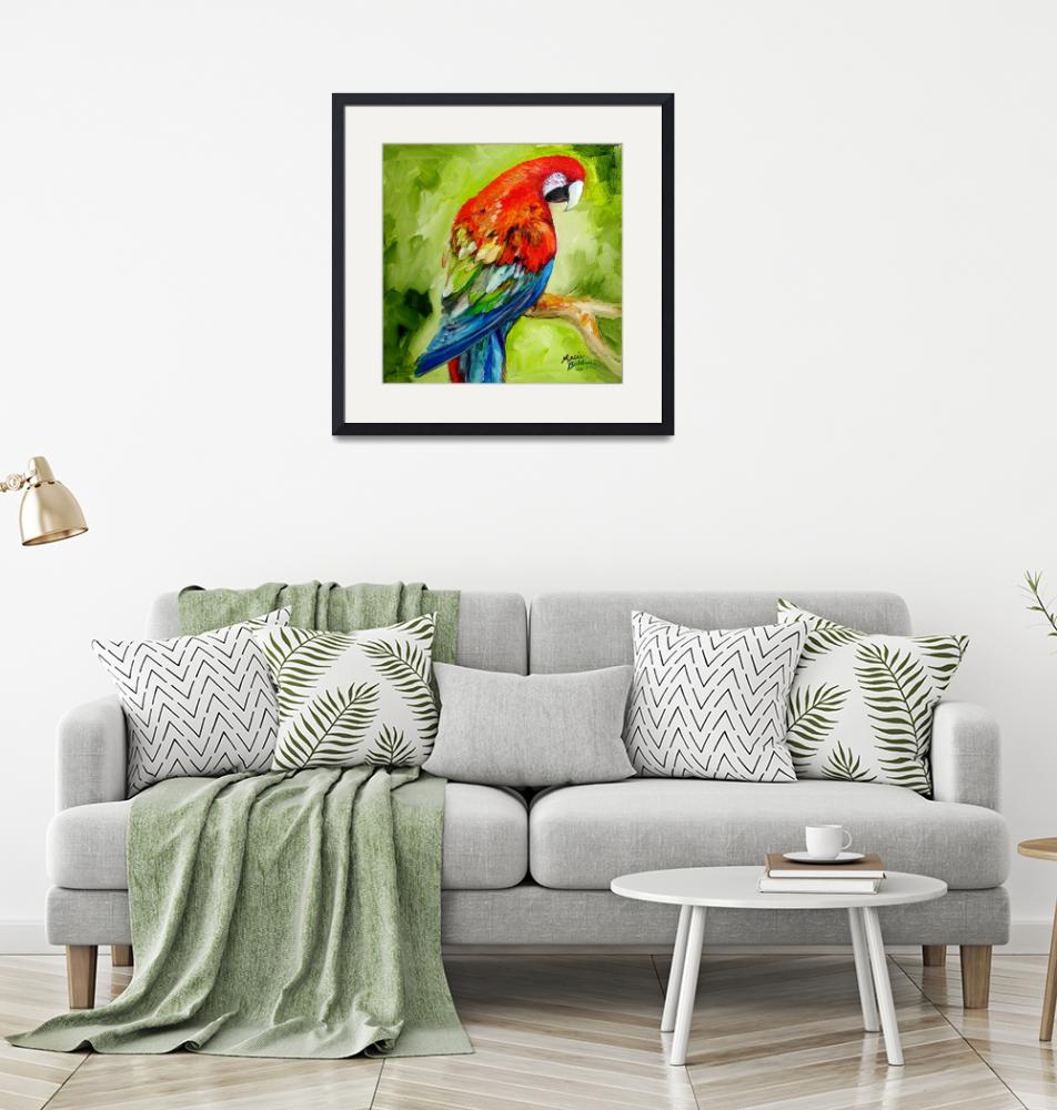 """MACAW TROPICAL""  (2010) by MBaldwinFineArt2006"