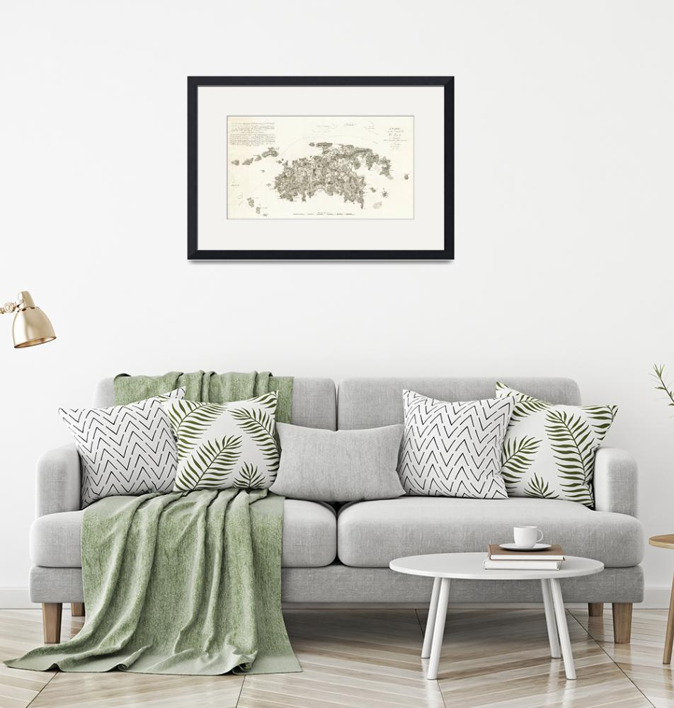 """""""1800 St. John map by Peter Lotharius Oxholm""""  by ArtistiquePrints"""