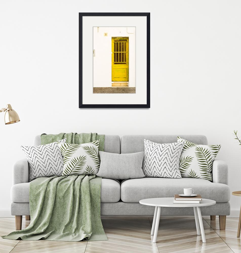 """Yellow Door Of Catalunya Spain""  (2011) by calvinhanson"