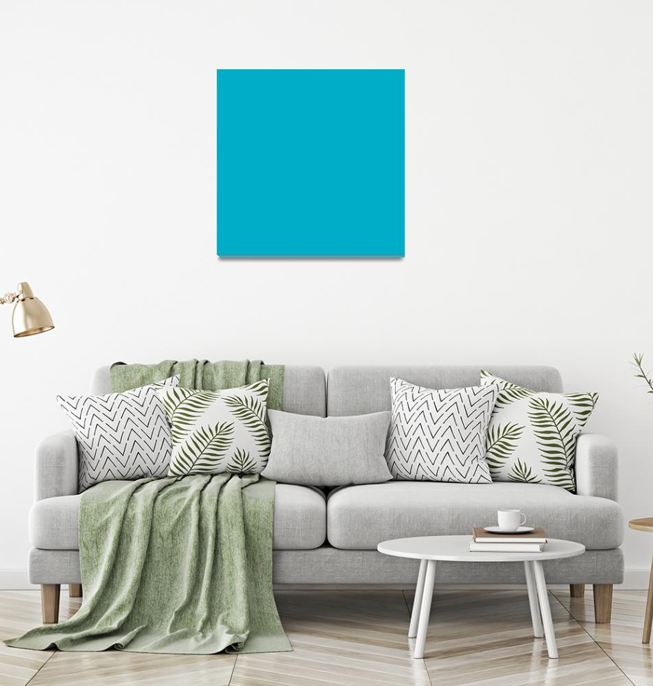 """Square PMS-312 HEX-00ADC6 Cyan Blue""  (2010) by Ricardos"