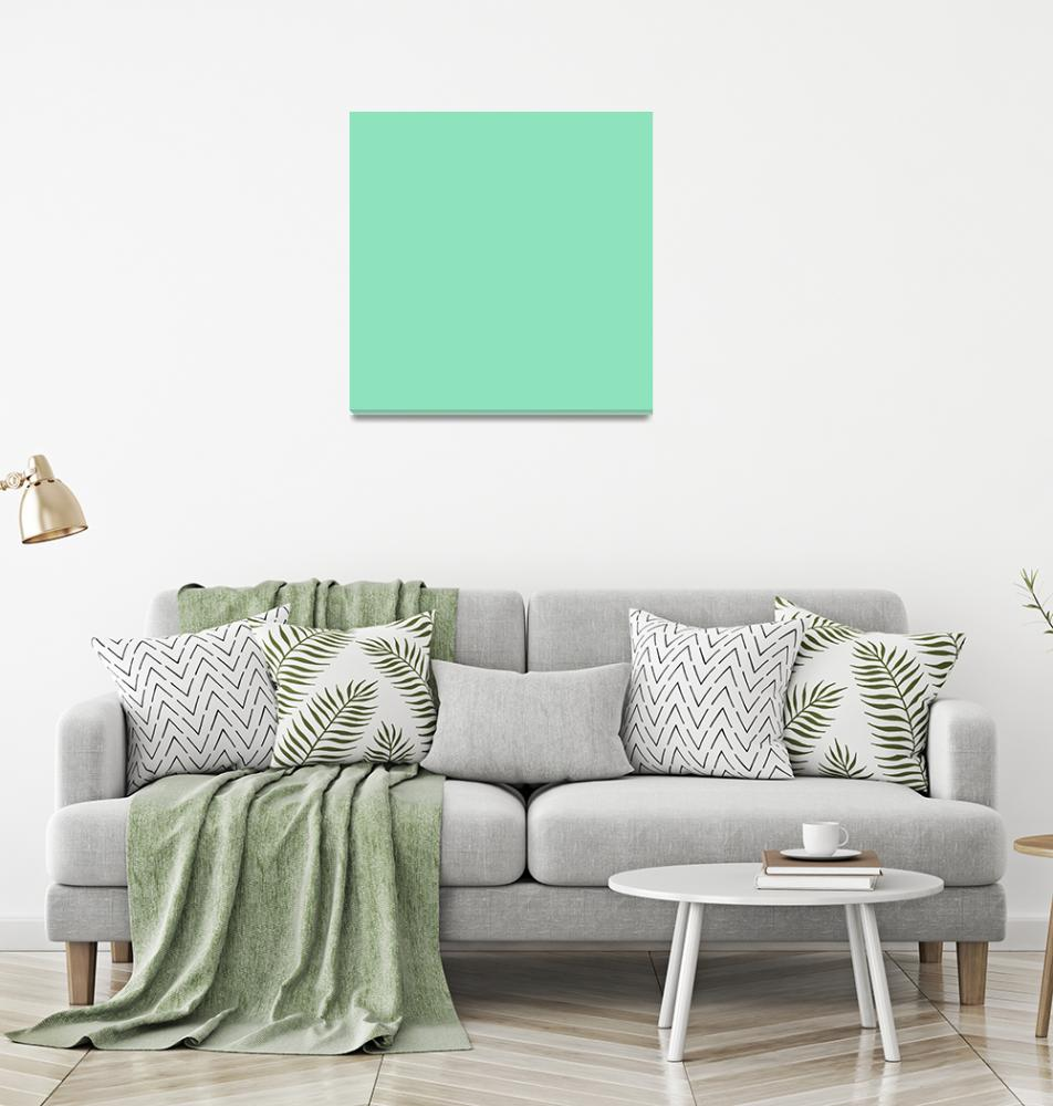 """""""Square PMS-3375 HEX-8EE2BC Green""""  (2010) by Ricardos"""