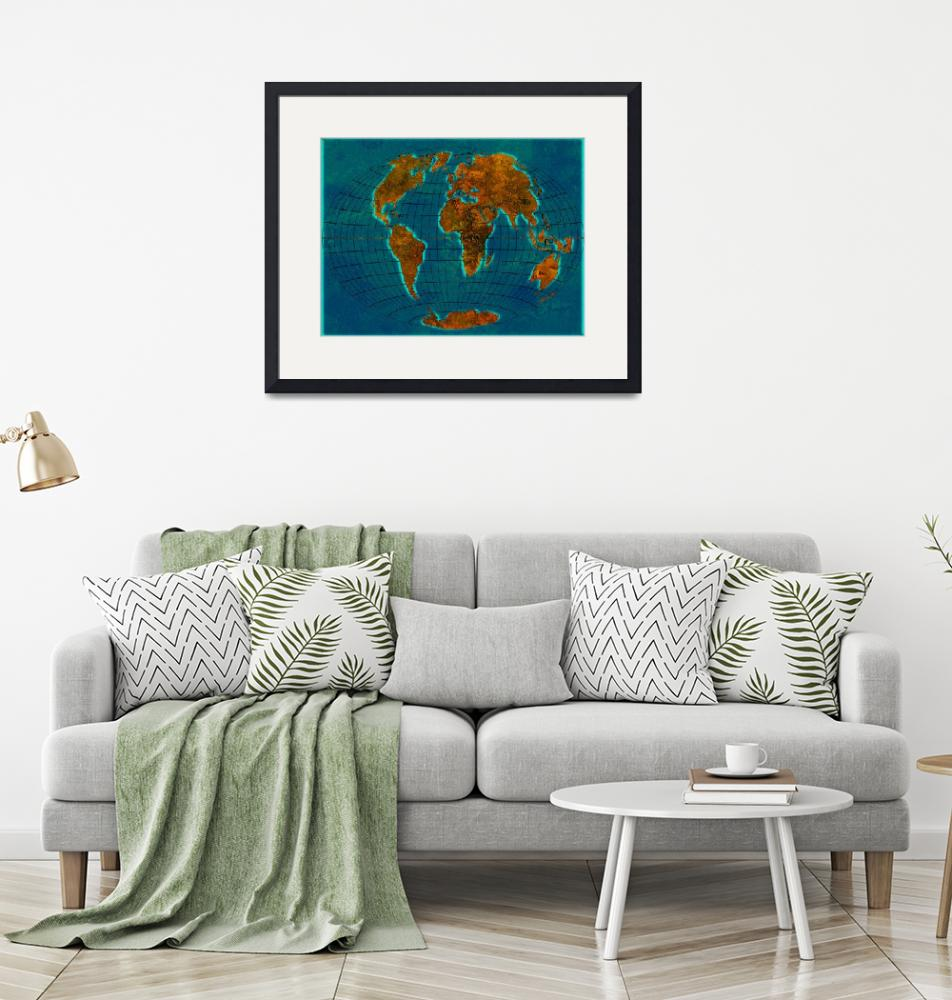 """""""World Map 1c""""  (2013) by Marian1"""