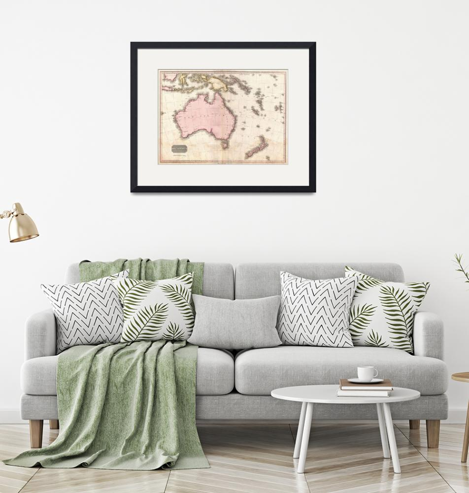 """""""Vintage Map of Australia (1818)""""  by Alleycatshirts"""