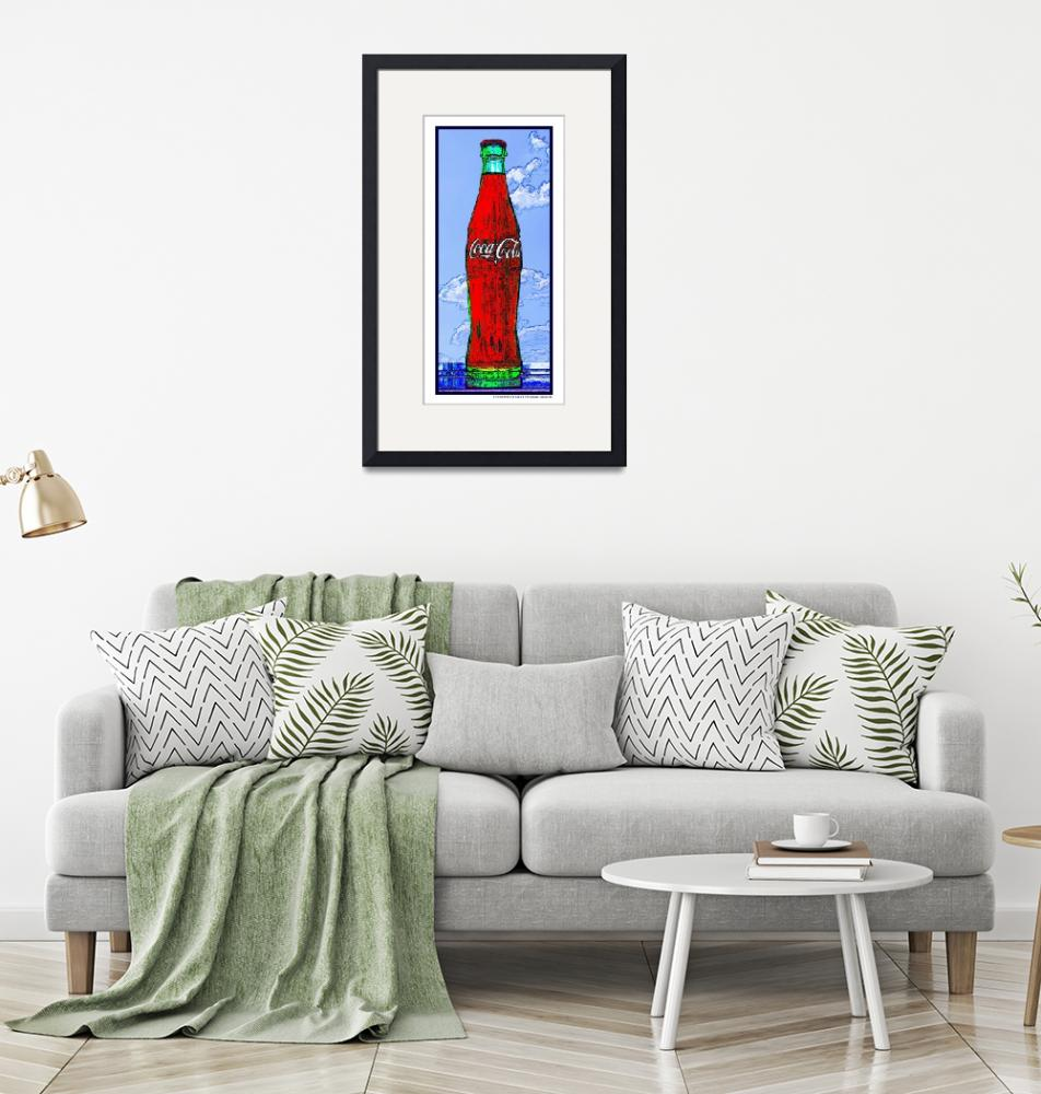 """""""Coca-Cola Bottle in the Sky, White Border""""  (2009) by Automotography"""